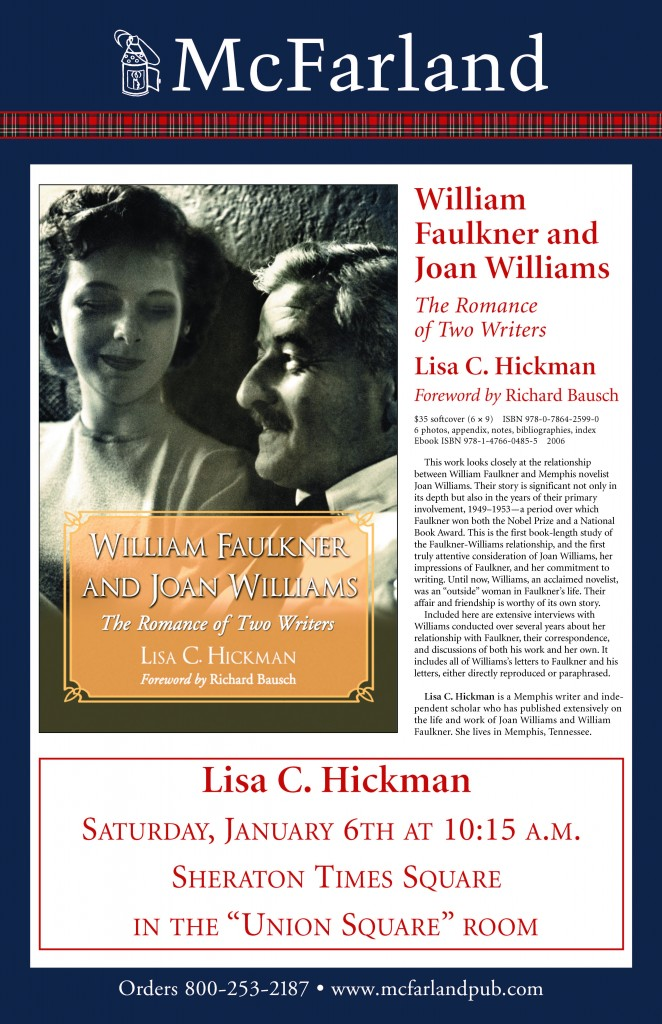Hickman William Faulkner and Joan Williams POSTER